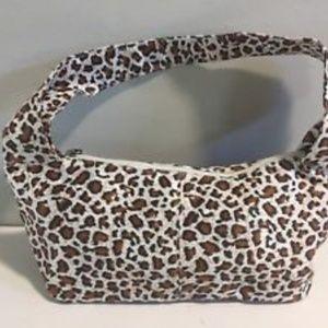 NWT Neiman Marcus Leopard/Cheetah Faux Suede Bag